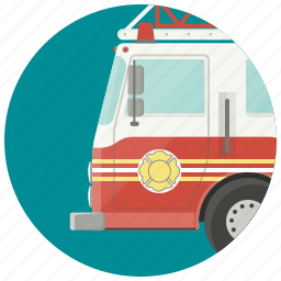 car, fire, fire fighters, fire truck, firefighters, firemen, transport icon