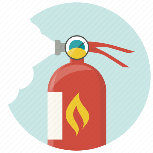 extinguisher, fire, fire extinguisher, fire extinguishing, fire foam, flame, safety icon