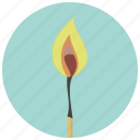 burn, campfire, fire, flame, heat, hot, match icon