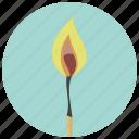 burn, campfire, fire, flame, heat, hot, match icon