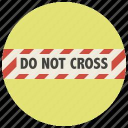 block, blockage, closed road, delimitation, do not cross, no further path, no more road icon