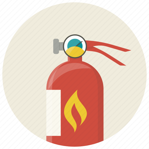 extinguisher, fire, fire extinguisher, flame, protection, safe, safety icon