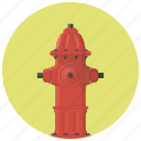 burn, fire, fire hydrant, firefighter, flame, hydrant, water icon