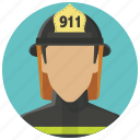 account, avatar, fire man, firefighter, fireman, smoke jumper, user icon