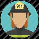 account, avatar, fire man, firefighter, fireman, smoke jumper, user icon