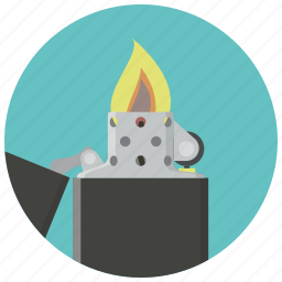 fire, flame, hot, light, lighter, smoking, zippo icon