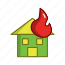 car, fire, firefighters, house, tool, worker icon