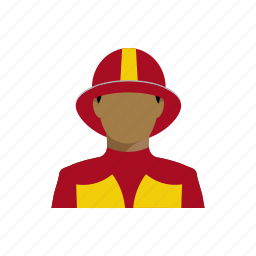 firefighter, firefighters, lifesaver, lifesavers, profession, profile icon