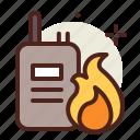 communication, flames, hazard, smoke icon