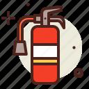 extinctor, flames, hazard, smoke icon