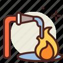 extinguish, fire, flames, hazard, smoke icon