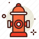 fire, flames, hazard, hydrant, smoke icon