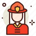 fireman, flames, hazard, smoke icon