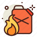 flames, gasoline, hazard, smoke icon