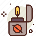 flames, hazard, lighter, smoke icon