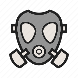 equipment, firefighter, fireman, mask, oxygen, rescue, uniform icon