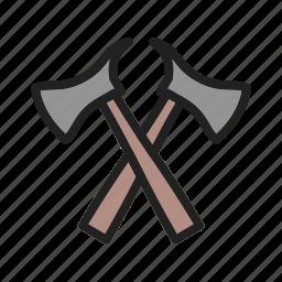 axe, cut, equipment, fire, firefighter, job, service icon