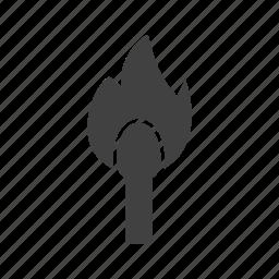 danger, fire, heat, lit, match, matchsticks, wood icon