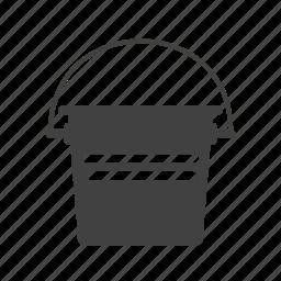 bucket, danger, emergency, fire, firefighter, red, water icon