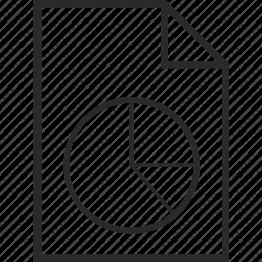 a4, chart, doc, economics, file, list icon
