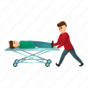 bed, cart, heart, hospital, medical