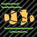 clownfish, fish, marine, stripe icon