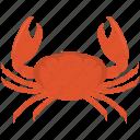crab, fish, food, meal, sand, sea, seafood icon