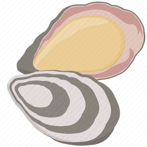 fish, food, meal, oyster, sand, sea, seafood icon