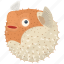 fish, food, kitchen, meal, puffer, sea, seafood icon