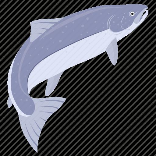 fish, food, kitchen, meal, salmon, sea, seafood icon