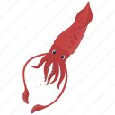 fish, food, kitchen, meal, sea, seafood, squid icon