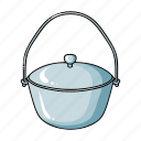 accessories, dishes, equipment, fishing, pot, tackle icon
