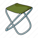 accessories, equipment, fishing, folding chair, high chair, tackle icon