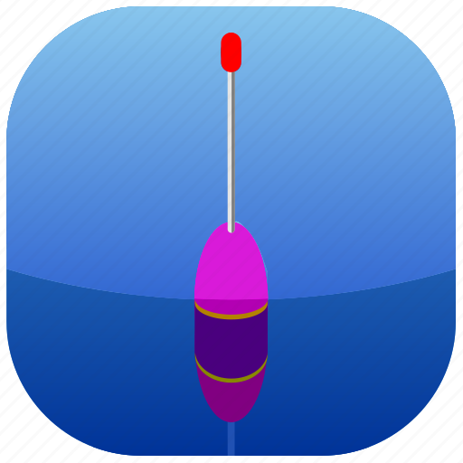 blue, fishing, float, water icon