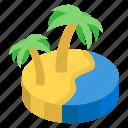 beach, enclave, island, landscape, seashore, tourist place icon