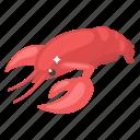 aquatic creature, fish, prawn, sea creature, seafood, shrimp, specie icon