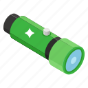flashlight, illuminant, pocket torch, searchlight, torch icon