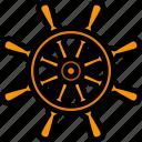 steering, wheel, ship, nautical, vintage, retro, old