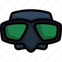 mask, scuba, snorkel, fishing, underwater, equipment, water