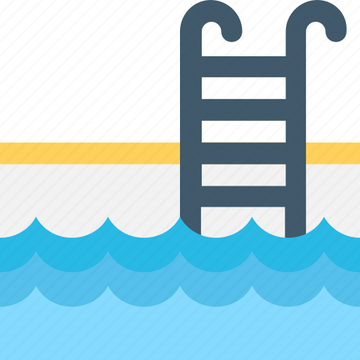 ladders, pool, poolside, swimming, swimming pool icon