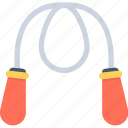aerobic, fitness, jump rope, jumping string, skipping rope icon