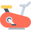 ergometer, exercise, exercycle, fitness, stationary bicycle icon