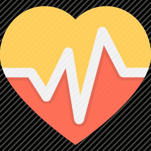 heart, heartbeat, lifeline, pulsation, pulse icon