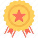badge, medal, prize, ribbon badge, winner icon