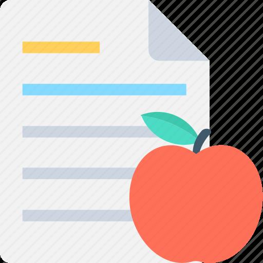 apple, diet chart, diet plan, fruit, healthy food icon