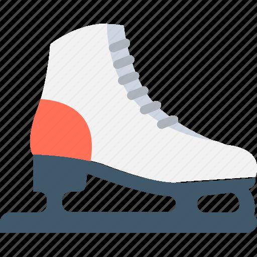 ice skates, skates, skating, skating shoes, sports icon