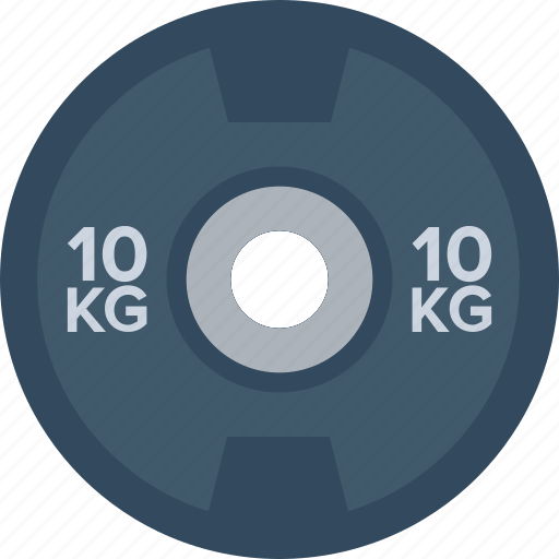 dumbbell plate, kg, kilogram, powerlifting, weightlifting icon