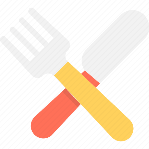 cutlery, dining, fork, kitchen utensils, knife icon