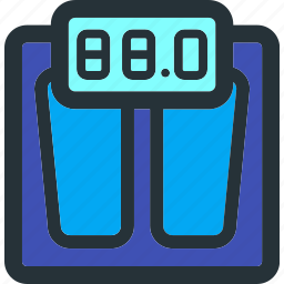 exercise, fitness, gym, measure, measurement, scale, weight icon