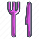 eat, food, fork, knife, location, navigation icon